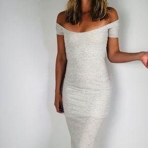 Talia Hancock Cotton Grey Short Sleeve Scoop Neck